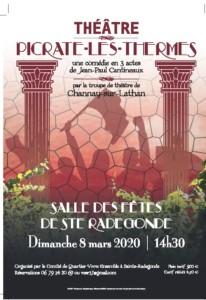 Théâtre: Picrate-les-Thermes_ Sainte Radegonde _ 08 mars 2020