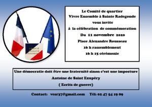 Commémoration du 11 Novembre à Sainte Radegonde